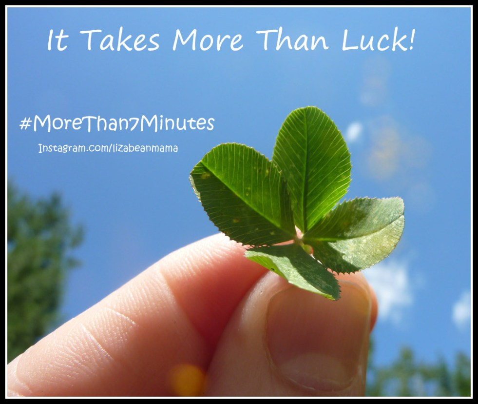 It takes more than luck