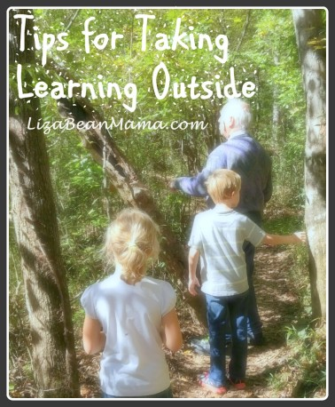 Tips for taking learning outside.