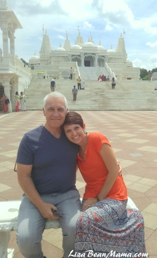 Dad and Me at the BAPS Mandir Atlanta